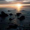 Sun setting over Gleason Beach.