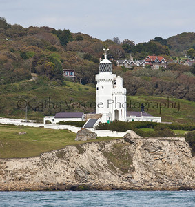The lighthouse at St Catherine's on the Isle of Wight