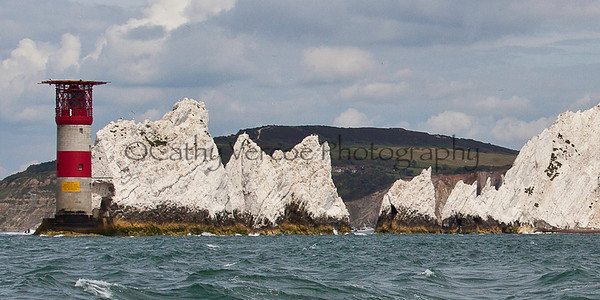 The needles on the south western tip of the Isle of Wight - taken from the south side of the Island