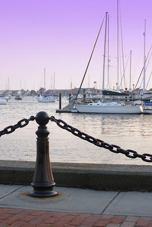 Sunset in Newport, Rhode Island.