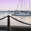 Sunset in Newport, Rhode Island.
