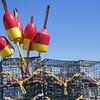 Lobster pots at Block Island harbor, Rhode Island