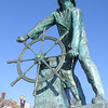 Fisherman statue, Gloucester, Massachusetts. In memory of Glouster's fishermen who have perished at sea.