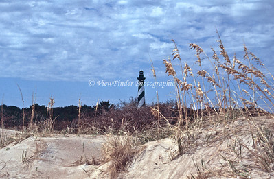 Cape Hatteras Lighthouse across the dunes