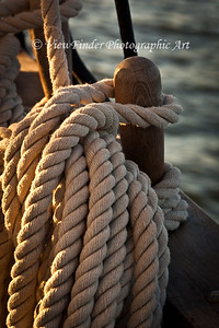 On a Triple Masted Schooner, there are what seems to be miles of rope (or lines).  It is like watching a choreographed dance when the crew raises the sails and simultaneously secures the lines with such precision.  To do otherwise would be chaos and calamity.