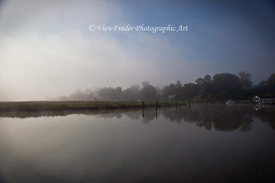 Morning fog over the Pagan River