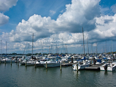 Small boat harbor at Fort Monroe, VA.