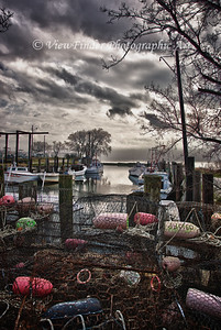 Crab Pots on the Dock