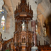 The pulpit of St Colman's Cathedral in Cobh, Ireland.