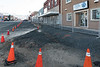 Street construction in Cochrane. Looking up Sixth Avenue.