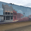 Mural of the Dalton Gang robbery
