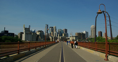 Stone Arch view of Mpls