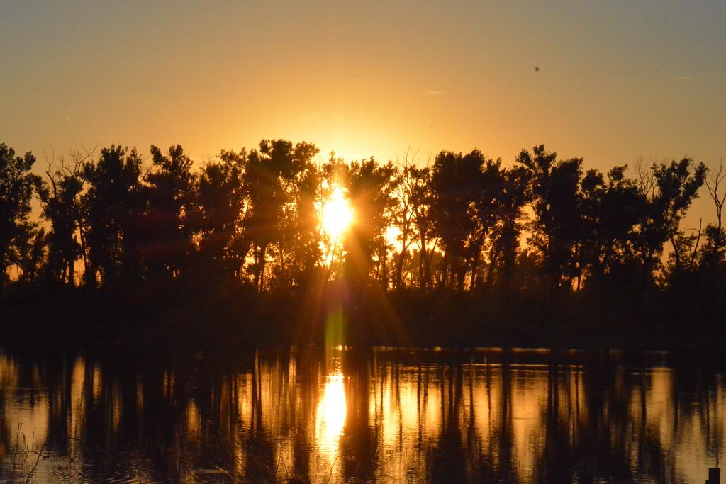 Sunset at DeSoto National Wildlife Refuge