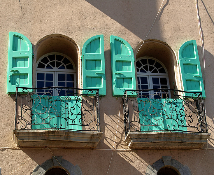 Teal Window Shutters  Order Code: B47