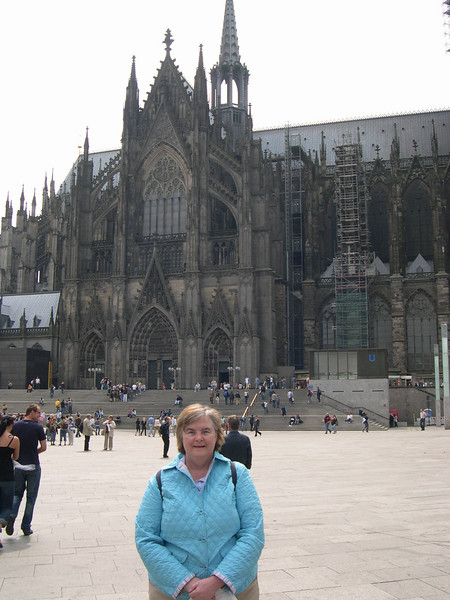 Susan at Cologne cathedral, a World Heritage site.