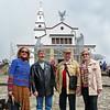 Patti Neale, Edgar Bajona, Nick and Gitty Schwab atop Monseratte