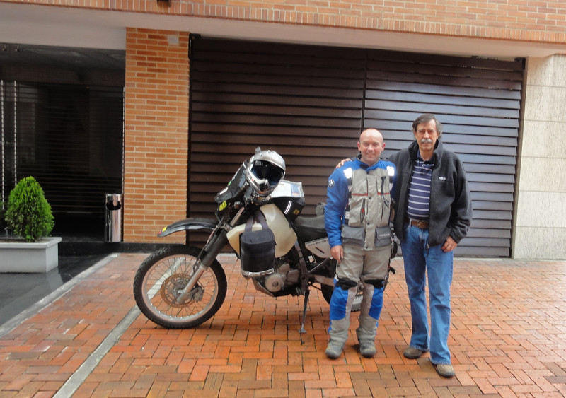 With Carlos Reyes Gavira in Bogota