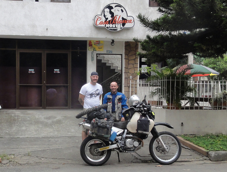 With owner, Mike at the excellent Casa Blanca Hostel, Cal