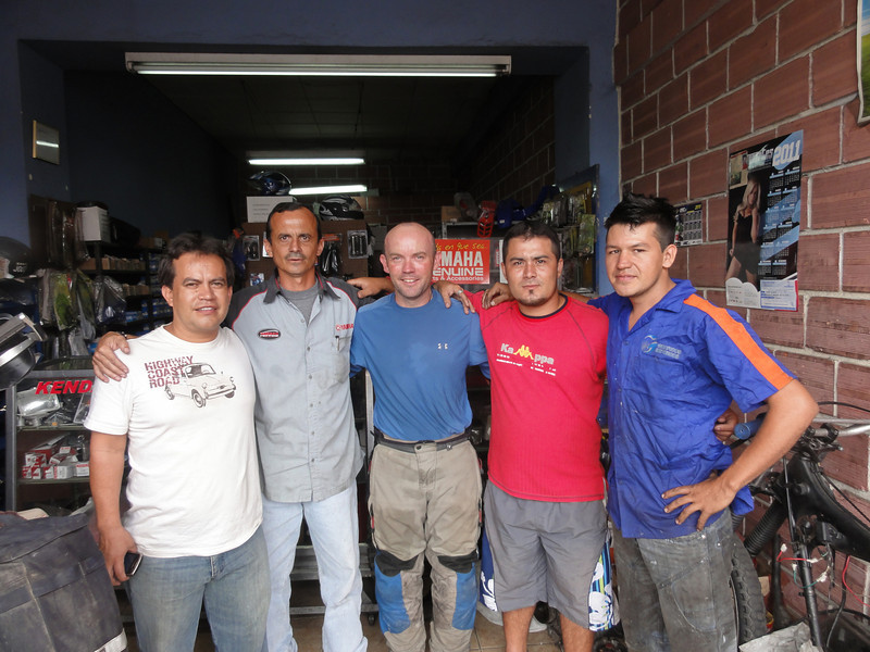 Javier (far left) and the gang at Codimotos,  Bucaramanga