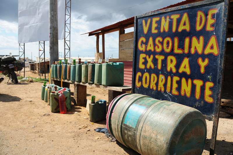 Cheap, smuggled Venezualan fuel. Uribia, Guajira