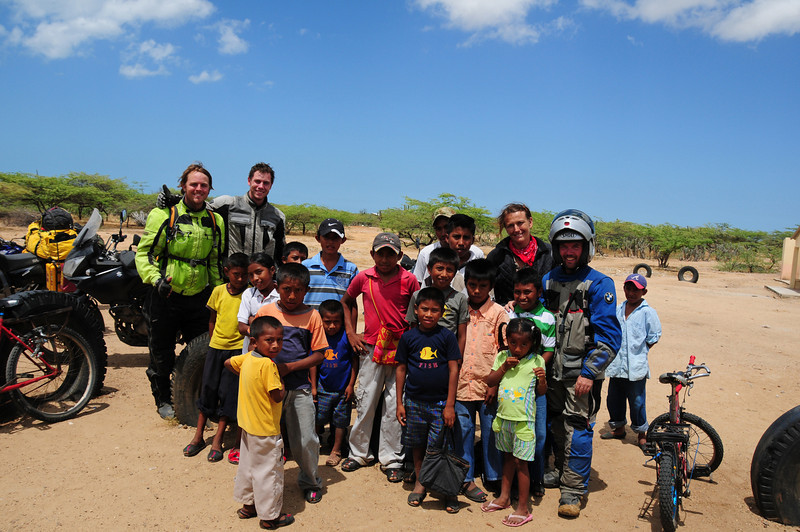 Meeting the schooll kids on the way back from Punta Gallinas, Guajira
