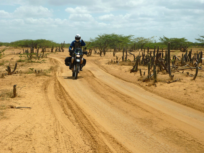 Me on the track to Cabo de La Vela