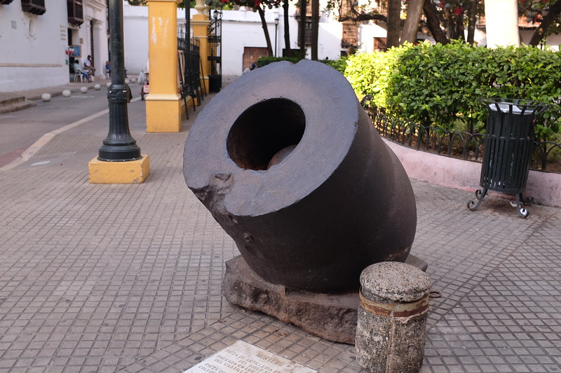 A mortar from the Spanish colonial era.