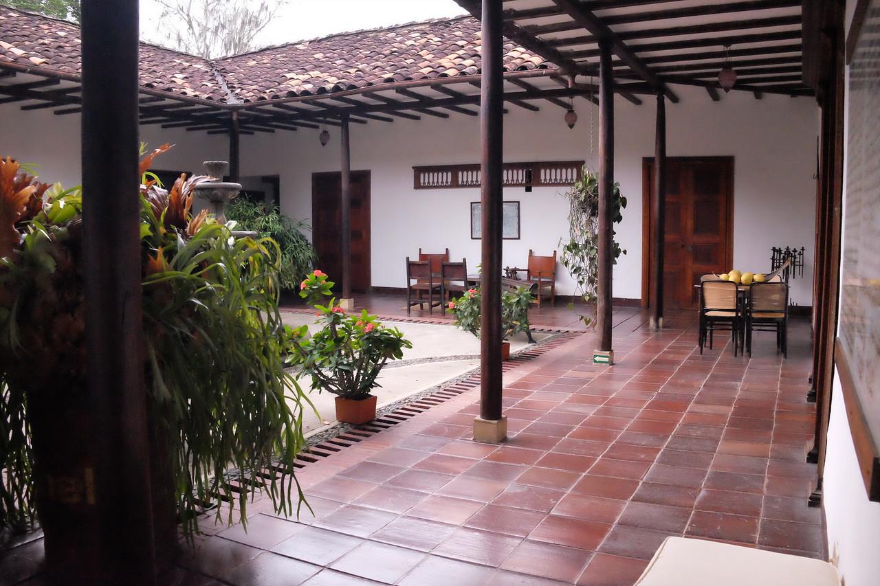 A typical hacienda now a restaurant.