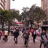 One of the main drags of Bogotá is closed to vehicles.