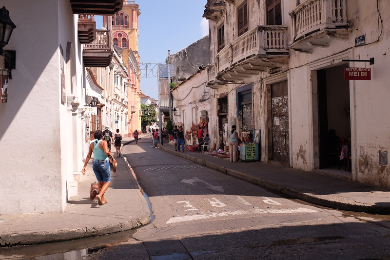 The Spanish colonial architecture of Cartagena's old town.