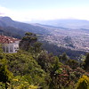 A view from Monserrate at the eastern (and richer) part of Bogotá.