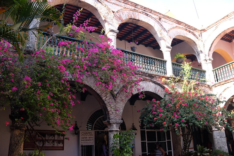 Inside the Santa Cruz Convent.