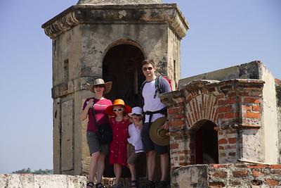 The Kennedy-Clarks - Castillo de San Felipe De Barajas, Cartagena (January 2013)