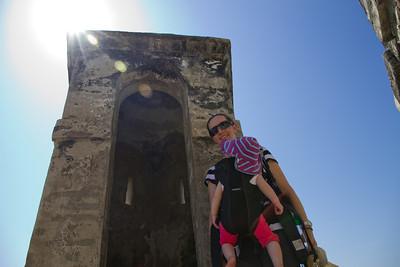 Margaret and Scarlett Exploring Castillo de San Felipe De Barajas - Cartagena, Colombia (January 2013)