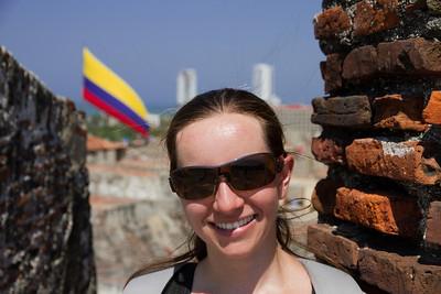 Margaret at Castillo de San Felipe De Barajas - Cartagena, Colombia (January 2013)