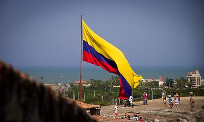 The Caribbean from Castillo de San Felipe De Barajas - Cartagena, Colombia (January 2013)