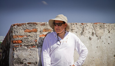 Gonzalo Walking the Walls of Castillo de San Felipe De Barajas - Cartagena, Colombia (January 2013)