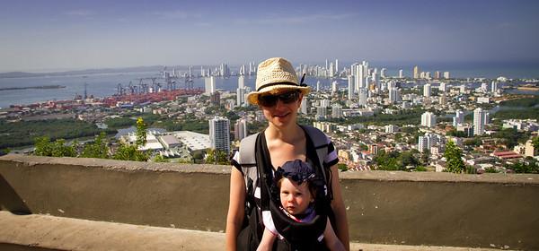 Margaret and Scarlett at La Popa - Cartagena, Colombia (January 2013)