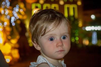Scarlett Enjoying the Magic of Cartagena Old Town by Night