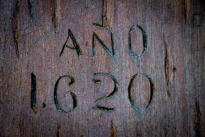 Inscription of Build Date at La Popa - 1620