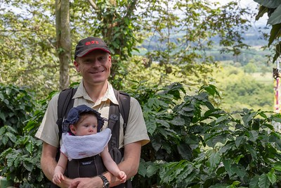 David and Scarlett at the Coffee Museum - Armenia Region Colombia (December 2012)