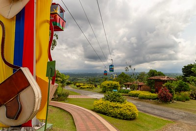 Chairlifts at the Coffee Museum - Armenia Region Colombia (December 2012)