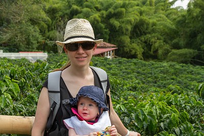Margaret and Scarlett at the Coffee Museum - Armenia Region Colombia (December 2012)