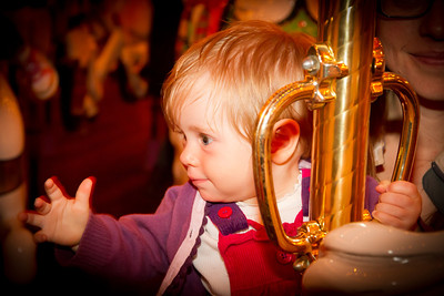 Scarlett Riding the Fantasyland Carousel - Disneyland California (January 2013 - 11 Months)