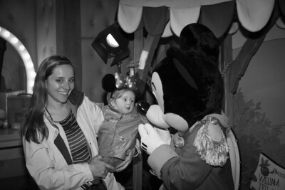 Scarlett Meets Mickey Mouse - Toon Town Disneyland (Jan 2013)