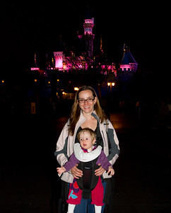 Scarlett and Margaret at the Fantasy Land Castle - Disneyland January 2013 (11 Months)
