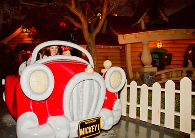 Scarlett and Margaret Spending an Evening in Toon Town, Disneyland (Jan 2013)