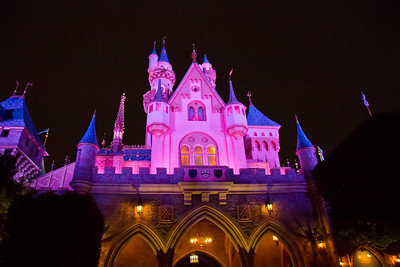 Fantasyland Castle by Night - Disneyland January 2013
