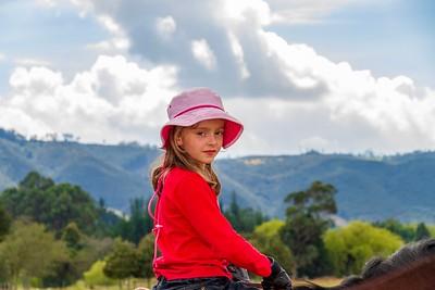 Annalise at Magda Herrera's Farm Outside Bogotá