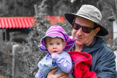 Scarlett & Grandpa at Magda's Farm
